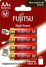 Fujitsu High Power AA Alkaline Batterier - 4 stk.