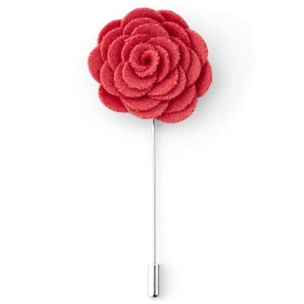 Mørk Pink Rose Reversnål