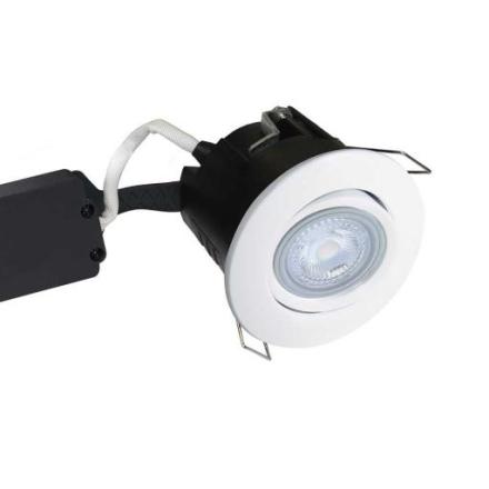 Nordtronic Master Uni Install 63 Rund Innbygningsspot utendørs med innebygget dimmer 5W/827 LED GU10, Hvit