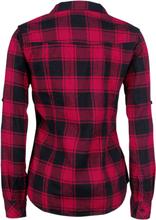 Brandit - Amy Flanell - Rutete skjorte -Flanellskjorte - svart, rød