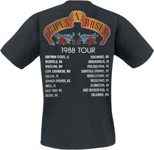 Guns N' Roses - Tour 1988 -T-skjorte - svart
