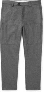 Brunello Cucinelli - Wool-flannel Trousers - Gray - XXXL,Brunello Cucinelli - Wool-flannel Trousers - Gray - XXL,Brunello Cucinelli - Wool-flannel Trousers - Gray - M,Brunello Cucinelli - Wool-flannel Trousers - Gray - L,Brunello Cucinelli - Wool-flannel