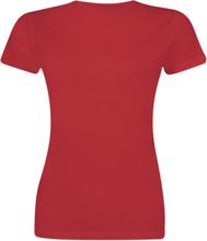 Supergirl - Stronger & Faster -T-skjorte - rød