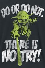 Star Wars - Yoda - There Is No Try -T-skjorte - svart