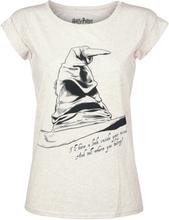 Harry Potter - Der sprechende Hut - Gryffindor UV -T-skjorte - hvit