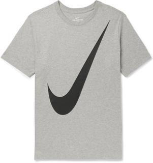 Nike - Logo-print Mélange Cotton-jersey T-shirt - Gray - M,Nike - Logo-print Mélange Cotton-jersey T-shirt - Gray - S,Nike - Logo-print Mélange Cotton-jersey T-shirt - Gray - XL,Nike - Logo-print Mélange Cotton-jersey T-shirt - Gray - L,Nike - Logo-print