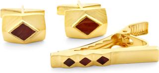 Guld och Tigeröga 925s Silver Set