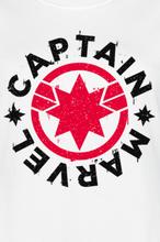 Captain Marvel - Logo -T-skjorte - hvit