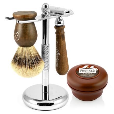 Silvertip Barbersæt i Ibenholt - Trendhim