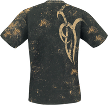Outer Vision - Marble Tattoo -T-skjorte - svart