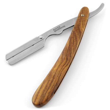 Gentleman's Brune Barberkniv i Rustfrit Stål til Udskiftelige Blade