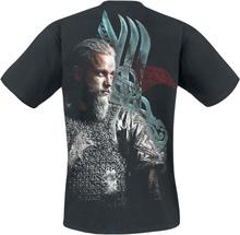 Vikings - Ragnar Face -T-skjorte - svart