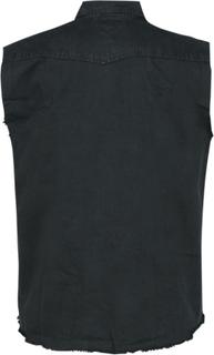 Spiral - Solid Black -Ermeløs arbeidsskjorte - svart