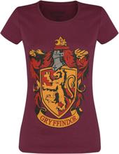 Harry Potter - Gryffindor -T-skjorte - burgunder