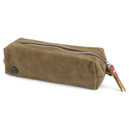Khakifarvet Mini Voksbehandlet Kanvastoilettaske