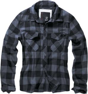 Brandit - Rutete skjorte -Flanellskjorte - svart-grå