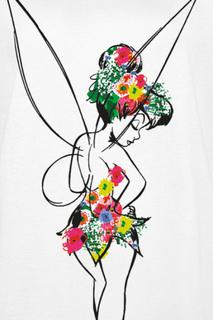 Peter Pan - Tinker Bell - Flower Power -T-skjorte - hvit