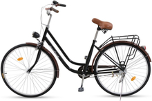"Damcykel Classic 26"" - Svart &amp brun"