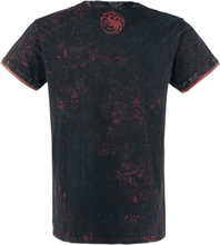 Game Of Thrones - Targaryen - Fire And Blood -T-skjorte - mørkegrå