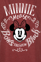 Mickey Mouse - Minni Maus - Bows -T-skjorte - rødmelert