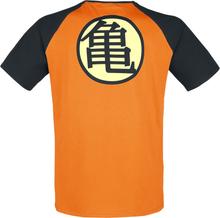 Dragon Ball - Z - Kame Symbol -T-skjorte - oransje, svart