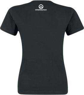 Overwatch - D.VA - Bunny - Spray -T-skjorte - svart