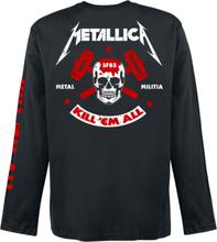 Metallica - Kill 'Em All - Skull -Langermet skjorte - svart