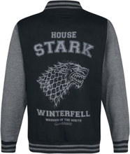 Game Of Thrones - House Stark Winterfell -College-jakke - svart-grå