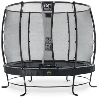 EXIT Trampolin Elegant Premium diameter 253 cm med Deluxe sikkerhedsnet - sort