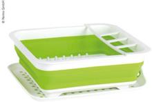Camp4 sammenleggbart oppvaskstativ hvit/grønn