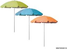 Blå parasoll ø200 cm til strand, hage og camping