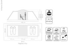 Ridgeline 4 Plus - kuppeltelt for 4 personer