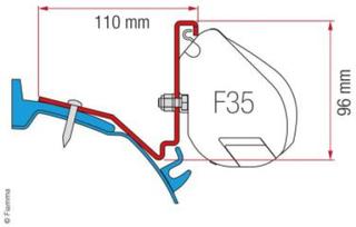 FIAMMA ADAPTER FORD CUSTOM CAPLAND / CAPFUN FOR F35