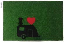 Dørmatte green flock caravan 40x60 cm grønn