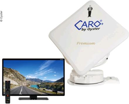 """Satellittflatantenne Caro® + Premium med 32"""" Oyster® tv"""