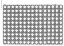 Gummimatte 60x40 cm svart
