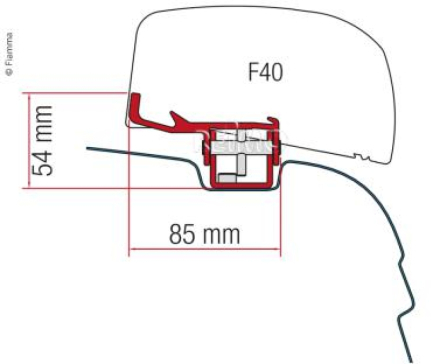 FIAMMA ADAPTER FOR F40VAN VWT5/T6
