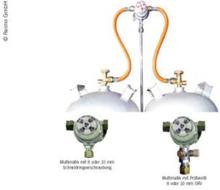 MULTIMATIK 2-FLASKEANLEGG 30 MBAR UTGANG 8MM M. TESTVENTIL