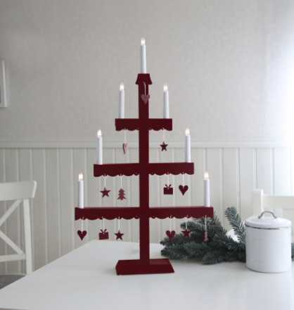 Star Trading Ljusstake Dingla-Röd