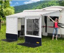Reimo markisetelt Villastore Premium, lengde 5,5 m, svart/grå