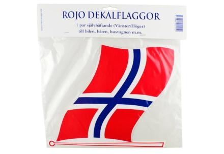 """FLAGG """"NO"""", SETT Á 2 STK, LARGE."""