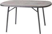 Scandinavic ovalt campingbord 150x90 cm gråbrun