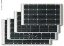 Solcellepanel 12V / 80W inkl. monteringsbraketter, monokrystalline celler