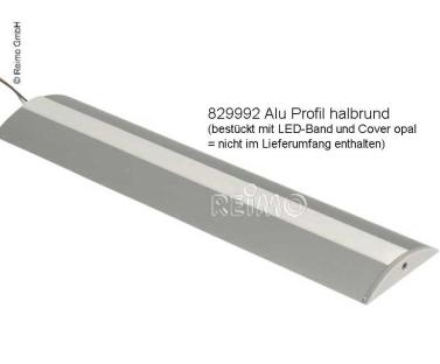 ALUMINIUM PROFIL FOR LED STRIPS + 2 ENDESLUTTSTYKKER ALUMINIUMSPROFIL, LENGDE 1,5 M