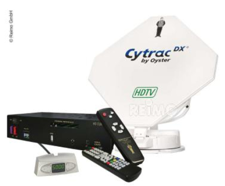 SATELLITTFLATANTENNE CYTRAC® DX HDTV TWIN INKL.RECEIVE R EUROPE