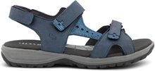 Green Comfort Damsandal Velcro Denim Blue