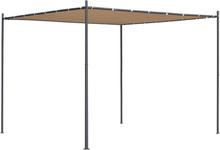 vidaXL Paviljong med platt tak 3x3x2,4 m beige
