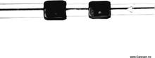 Easy system, 3-delt stang, alu, 28 mm