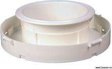 Selvventilerende takventil 110 mm, hvit plast