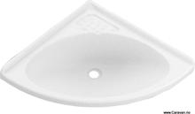 Buet hjørnevask, hvit, 155/418/418 mm